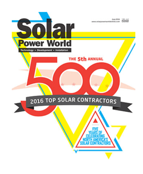 Infinity Named Top 10 Solar Contractor by Solar Power World
